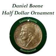 Daniel Boone Half Dollar Ornament on the Greater Atlanta Coin Show's Numismatic Shoppe