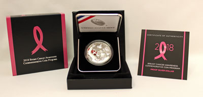 2018 Breast Cancer Awareness Commemorative Silver Dollar