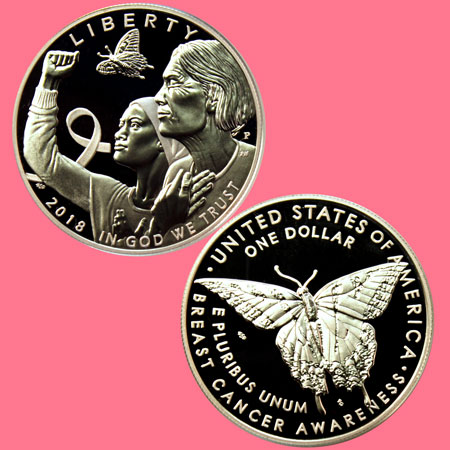 2018 Breast Cancer Awareness Commemorative coin