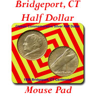 Bridgeport CT Mouse Pad on Greater Atlanta Coin Show's Numismatic Shoppe