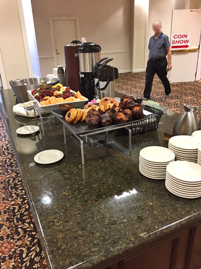 Continental breakfast May 2018