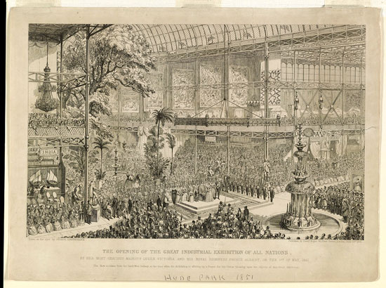 Crystal Palace London 1851 opening day