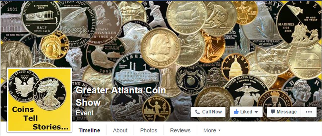 Greater Atlanta Coin Show on facebook