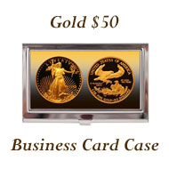 Gold $50 Business Card Case on Greater Atlanta Coin Show's Numismatic Shoppe