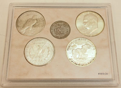 Five Historic Dollar Coins reverse