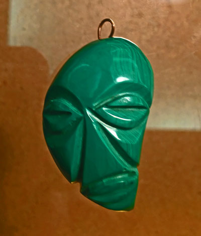 Malachite Mask Pendant