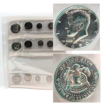Proof Coins damaged by PVC