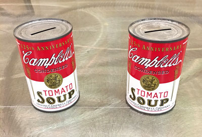 125th Anniversary Campbell's Tomato Soup Tin Coin Bank