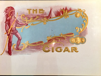 The Cigar Collectible Box Label