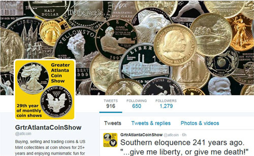 Greater Atlanta Coin Show on Twitter
