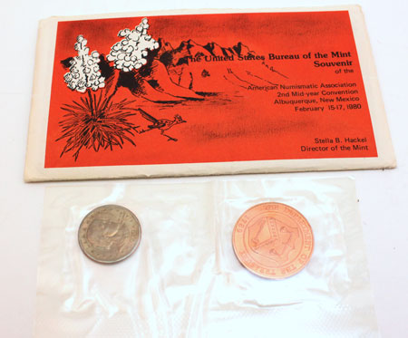 US Mint ANA Convention Souvenir Set Albuequerque New Mexico 1980