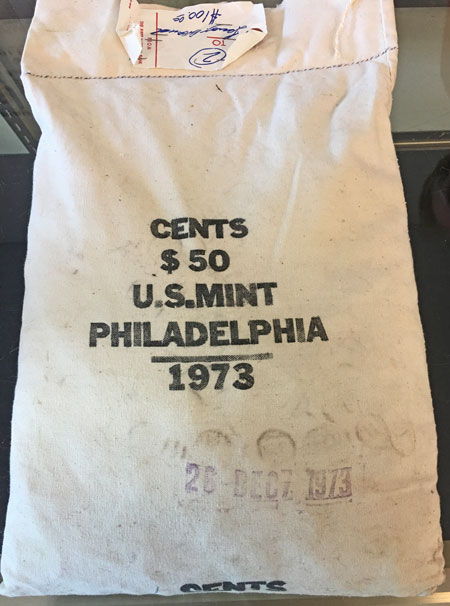 Sealed 1973 Mint Bag Copper Lincoln Cent Coins