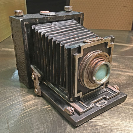 Vintage Camera Coin Bank front view