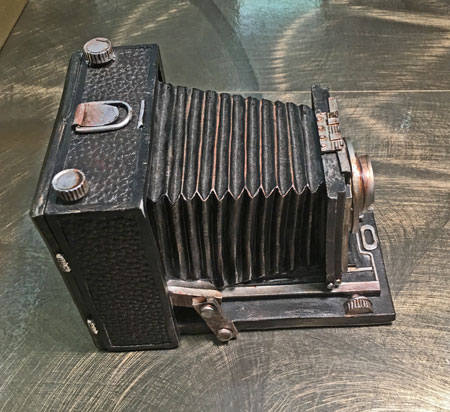 Vintage Camera Coin Bank top view