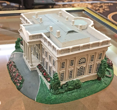 White House model front side view